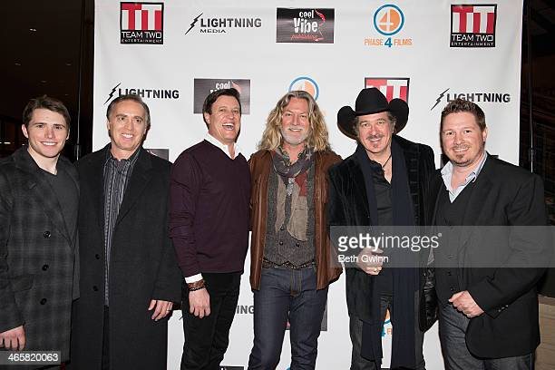 Eric Brooks John Kuelbs Mike Dubois William Shockley Kix Brooks and Dustin Rikert attend the 'Ambush At Dark Canyon' premiere at the Country Music...