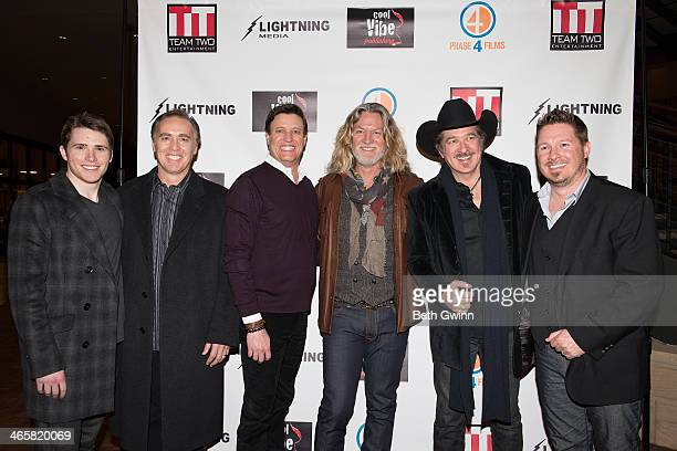 Eric Brooks John Kuelbs Mike Dubois William Shockley Kix Brooks and Dustin Rikert attends the 'Ambush At Dark Canyon' premiere at the Country Music...
