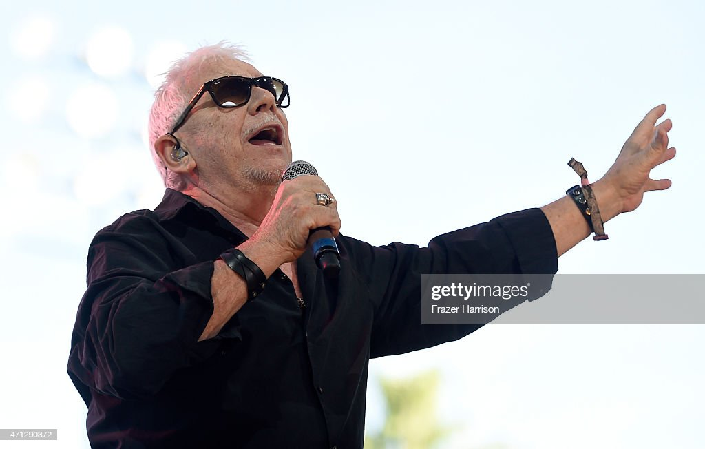Eric Burdon And The Animals perform onstage during day three of 2015 Stagecoach California's Country Music Festival at The Empire Polo Club on April...