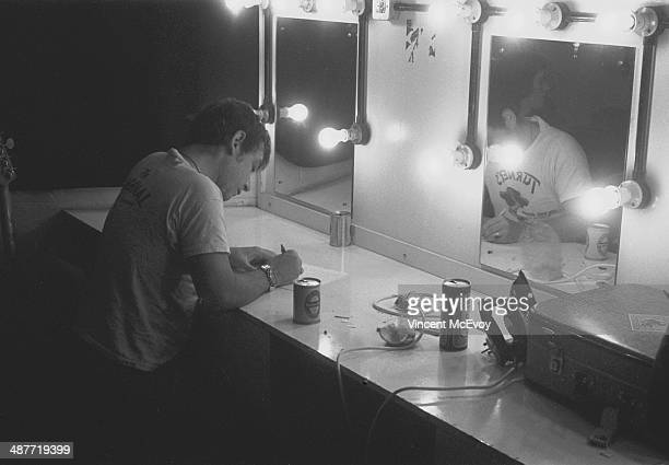 Eric Burdon backstage at the Roundhouse London 1976