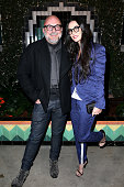 Eric Buterbaugh and Demi Moore attend the launch of Just One Eye's Ulysses Tier 1 The Ultimate Disaster Relief Kit on December 5 2014 in Los Angeles...