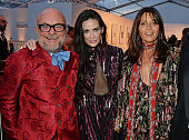 Eric Buterbaugh Demi Moore and Countess Debonnaire von Bismarck attend British Vogue's Centenary gala dinner at Kensington Gardens on May 23 2016 in...