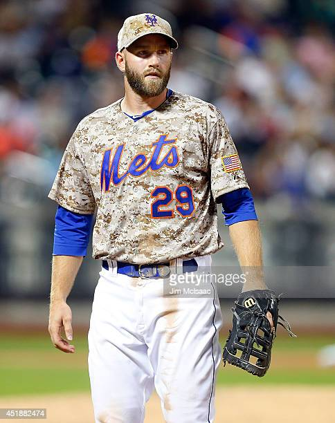 Eric Campbell of the New York Mets in action against the Atlanta Braves at Citi Field on July 7 2014 in the Flushing neighborhood of the Queens...