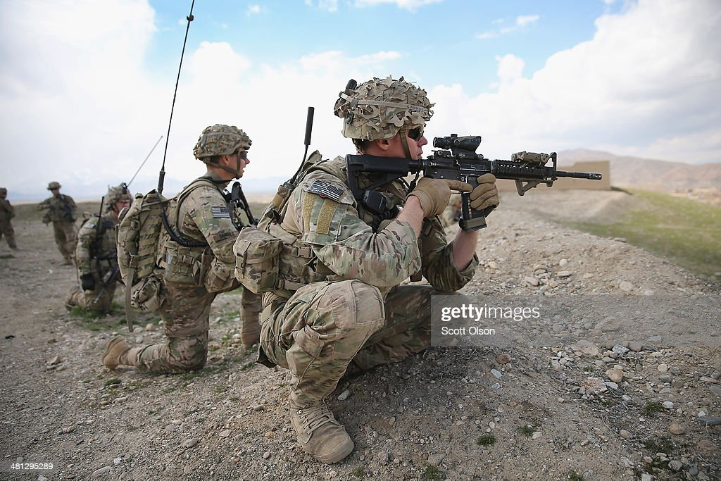 Eric Cannon from Dothan Alabama SPC Brian Daniels from Sacremento California and SGT Alexander Forst from Mason Ohio with the US Army's 2nd Battalion...