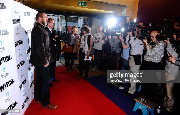Eric Cantona and Frederic Schoendoerffer arrive at a screening of film Switch at Cineworld in London