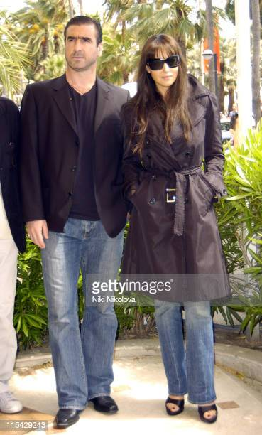 Eric Cantona and Monica Bellucci during 2006 Cannes Film Festival 'Le Deuxieme Souffle' Photocall at Hotel Carlton in Cannes France