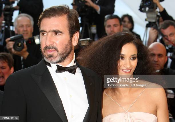 Eric Cantona and Rachida Brakni arriving for the official screening of Looking For Eric at the Palais de Festival during the 62nd Cannes Film...