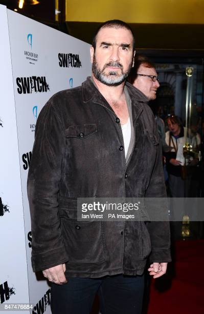 Eric Cantona arrives at a screening of film Switch at Cineworld in London