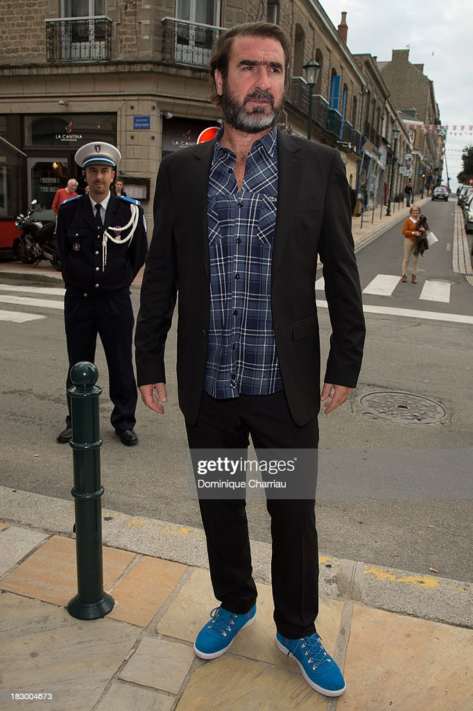 <a gi-track='captionPersonalityLinkClicked' href=/galleries/search?phrase=Eric+Cantona&family=editorial&specificpeople=211325 ng-click='$event.stopPropagation()'>Eric Cantona</a> arrives at the 24th Dinard British Film Festival Opening Ceremony on October 3, 2013 in Dinard, France.