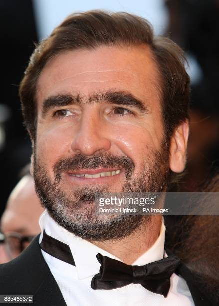 Eric Cantona arriving for the official screening of Looking For Eric at the Palais de Festival during the 62nd Cannes Film Festival France