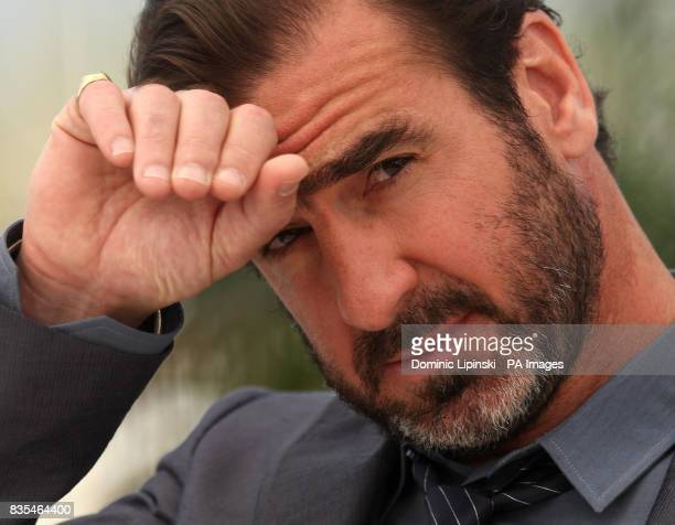 CROP Eric Cantona at a photocall for the film 'Looking for Eric' at the Palais des Festivals in Cannes France during the 62nd Cannes Film Festival...