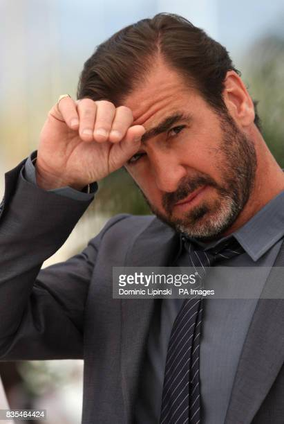 Eric Cantona at a photocall for the film 'Looking for Eric' at the Palais des Festivals in Cannes France during the 62nd Cannes Film Festival France
