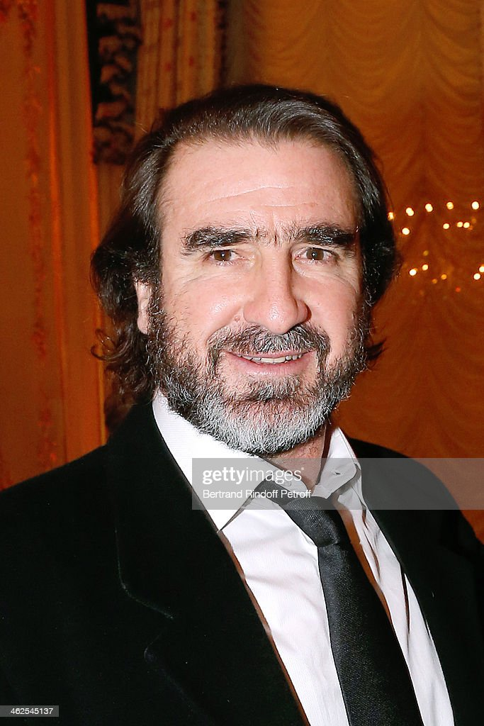 Eric Cantona at the Chaumet's Cocktail Party for Cesar's Revelations 2014 at Musee Chaumet, followed by a dinner at Hotel Meurice on January 13, 2014 in Paris, France.
