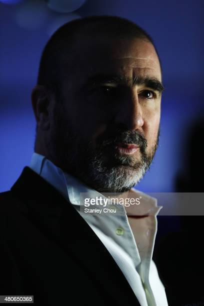 Eric Cantona attends the 2014 Laureus World Sports Awards at the Istana Budaya Theatre on March 26 2014 in Kuala Lumpur Malaysia