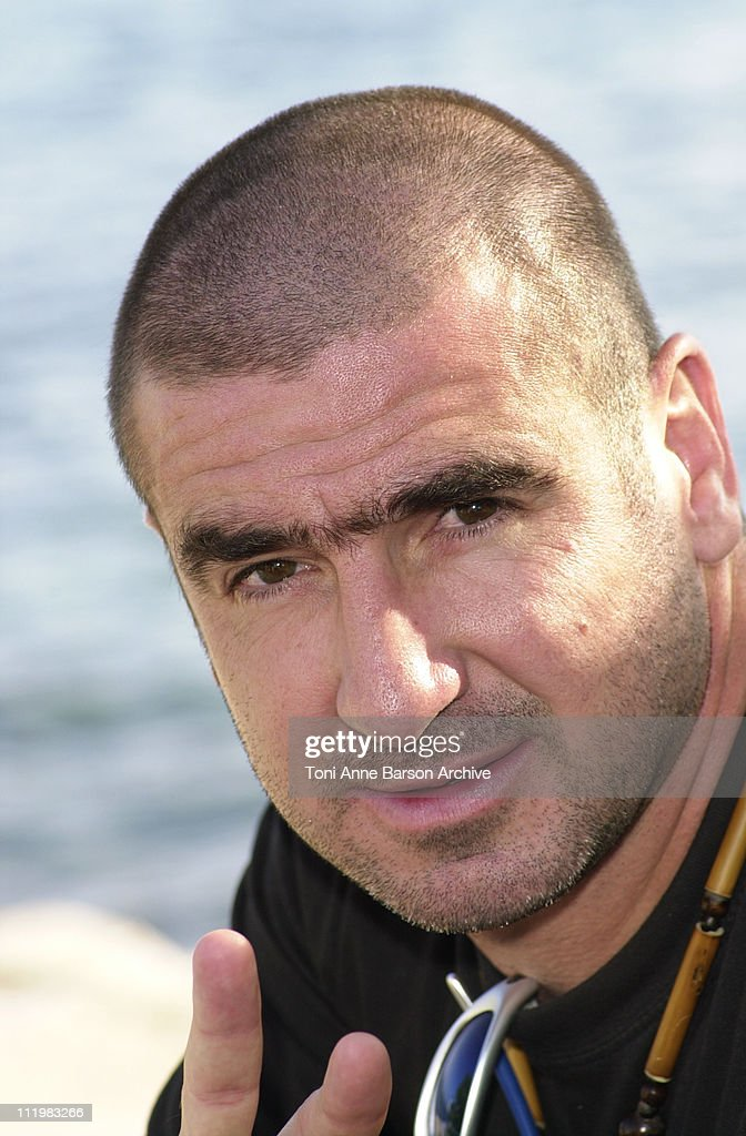 Eric Cantona during MIPCOM 2001 - Eric Cantona Photocall - Corto Maltese at Cannes Beach in Cannes, France.