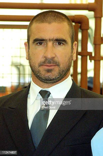 Eric Cantona during Nikepark at the Dome at Nikepark at The Millenium Dome in London United Kingdom