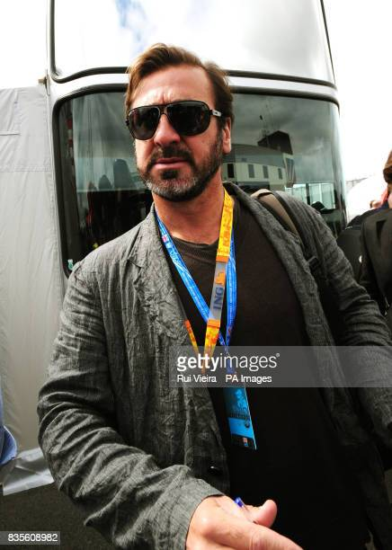 Eric Cantona in the Paddock before during the British Grand Prix at Silverstone Northamptonshire