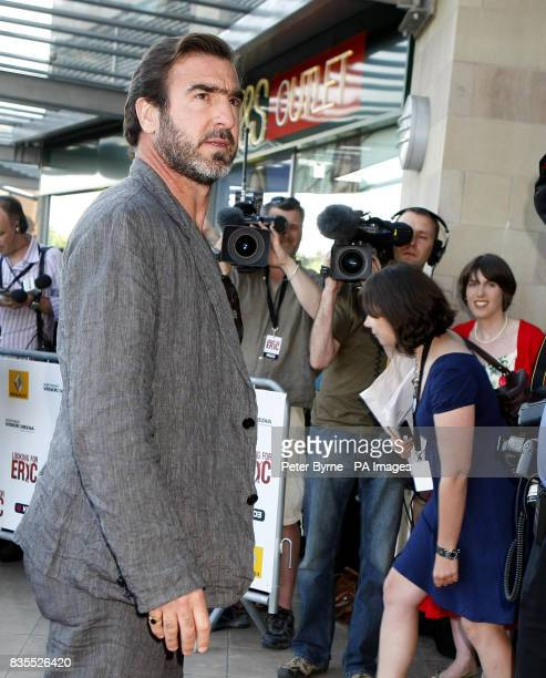 Eric Cantona on the red carpet for the UK premiere of the film 'Looking for Eric' at the Vue Cinema Lowery Centre Manchester
