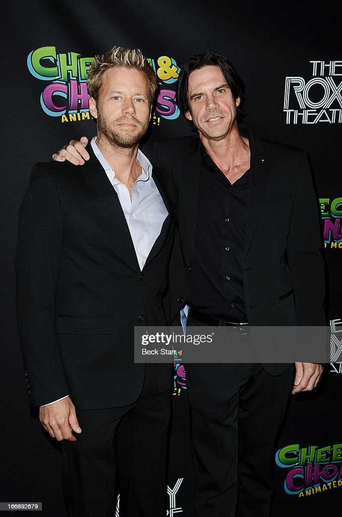 Eric Chambers and Branden Chambers arrive at 'Cheech And Chong's Animated Movie!' VIP green carpet premiere at The Roxy Theatre on April 17, 2013 in West Hollywood, California.