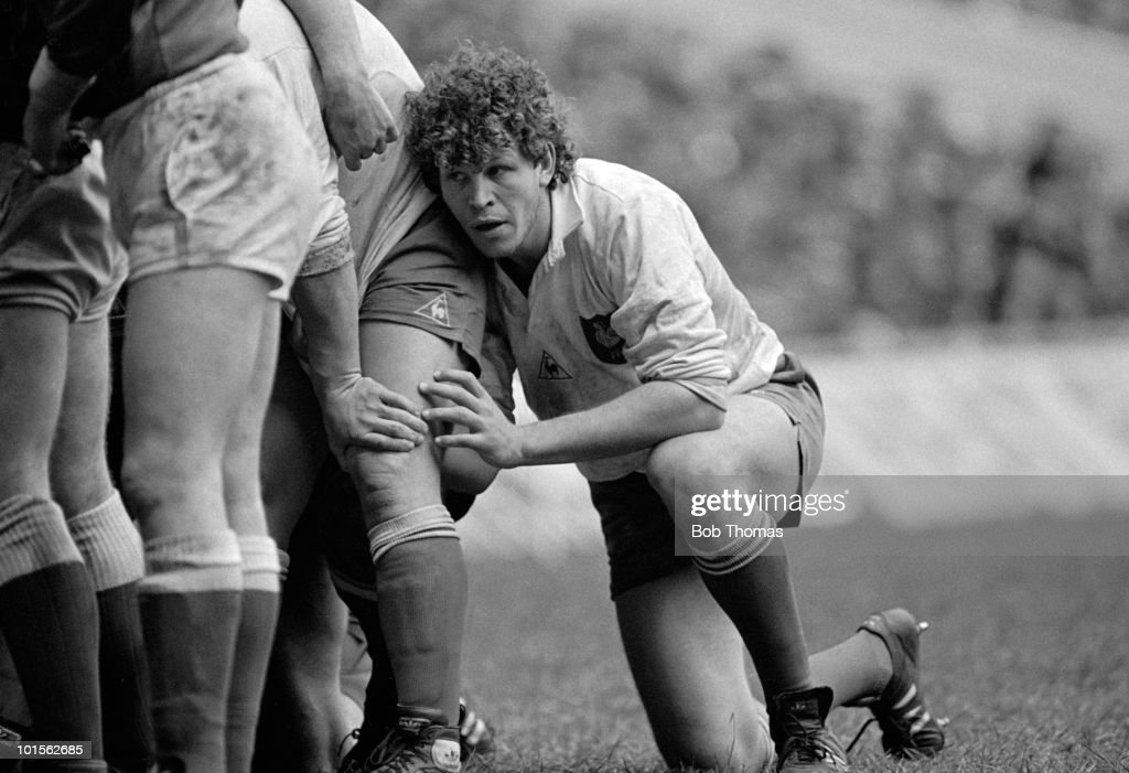 Eric Champ of France in action against Wales during the Rugby Union International match held at Cardiff Arms Park on 1st March 1986. France beat Wales 23-15. (Bob Thomas/Getty Images).