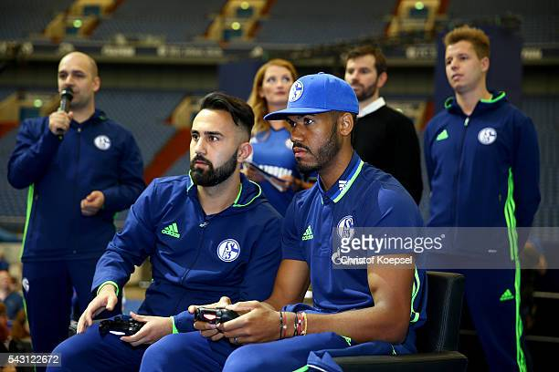 Eric ChoupoMoting plays esport prior to the FC Schalke 04 general assembly at Veltins Arena on June 26 2016 in Gelsenkirchen Germany