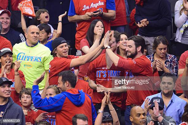 Eric Christian Olsen attends a playoff basketball between the Golden State Warriors and the Los Angeles Clippers at Staples Center on April 19 2014...