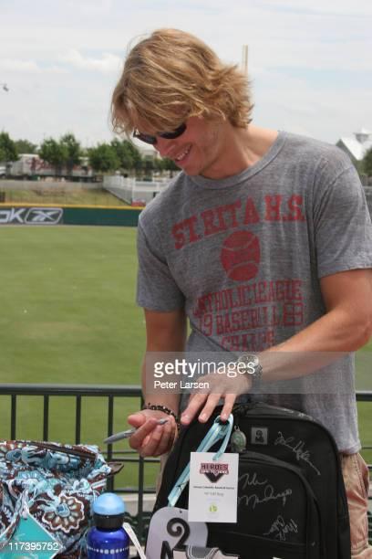 Eric Christian Olsen during Klein Creative Communications Provides Gift Bags at the 2006 Reebok Heroes Celebrity Baseball Game at Dr Pepper Ballpark...