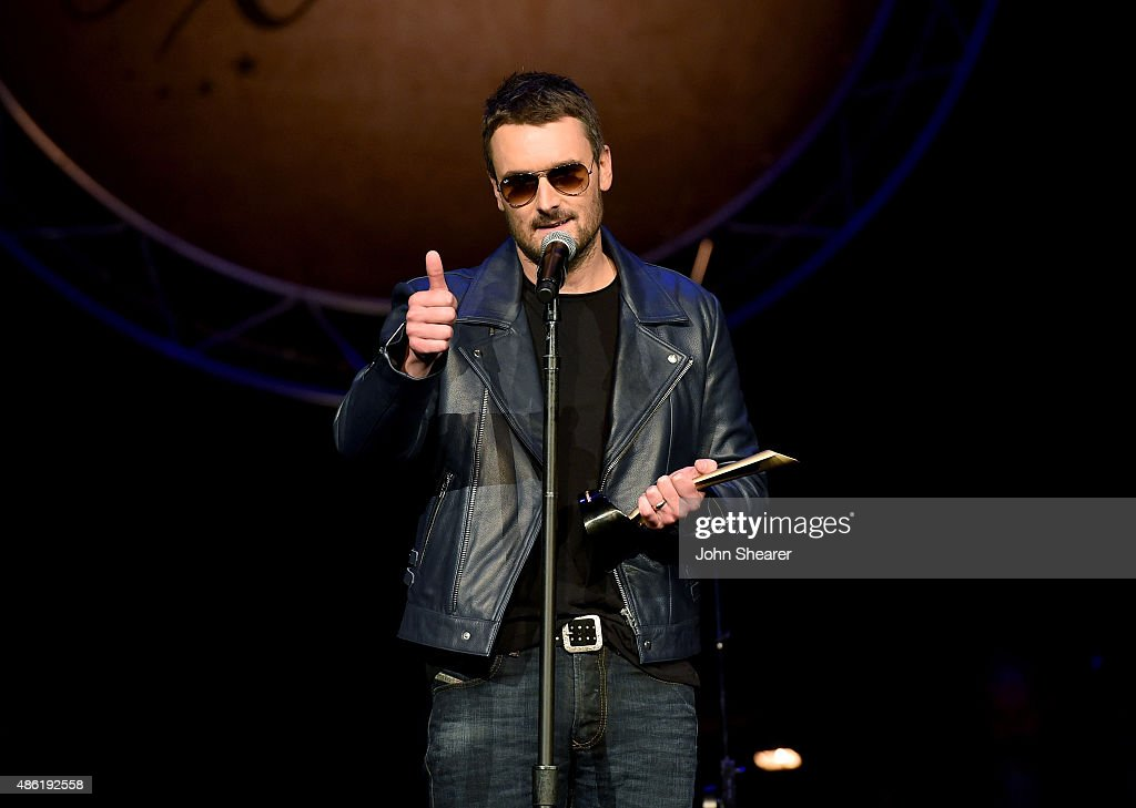Eric Church accepts the Jim Reeves International Award onstage during the 9th Annual ACM Honors at the Ryman Auditorium on September 1 2015 in...