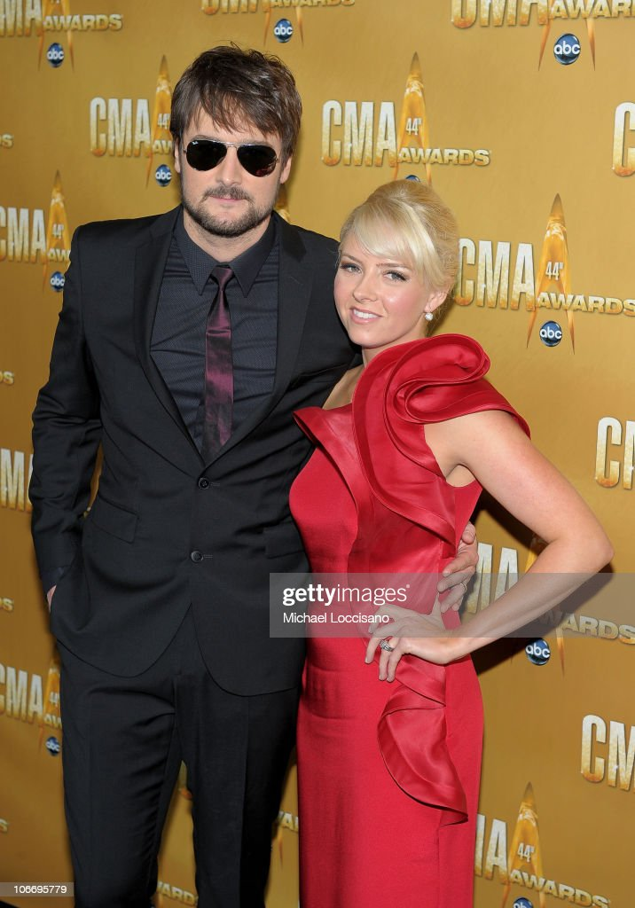 <a gi-track='captionPersonalityLinkClicked' href=/galleries/search?phrase=Eric+Church&family=editorial&specificpeople=619568 ng-click='$event.stopPropagation()'>Eric Church</a> and wife Katherine attend the 44th Annual CMA Awards at the Bridgestone Arena on November 10, 2010 in Nashville, Tennessee.