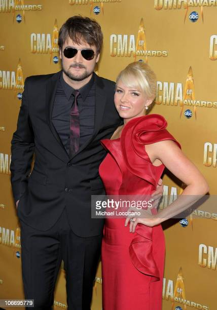 Eric Church and wife Katherine attend the 44th Annual CMA Awards at the Bridgestone Arena on November 10 2010 in Nashville Tennessee