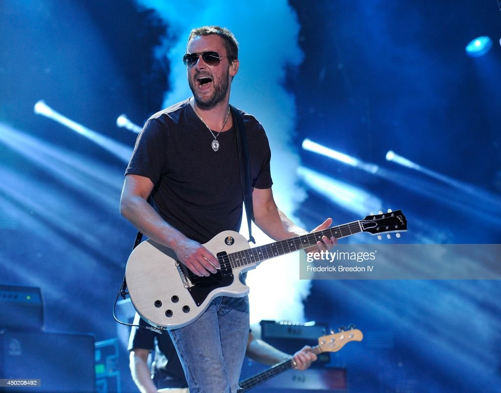 Eric Church performs at LP Field at the 2014 CMA Festival on June 6 2014 in Nashville Tennessee