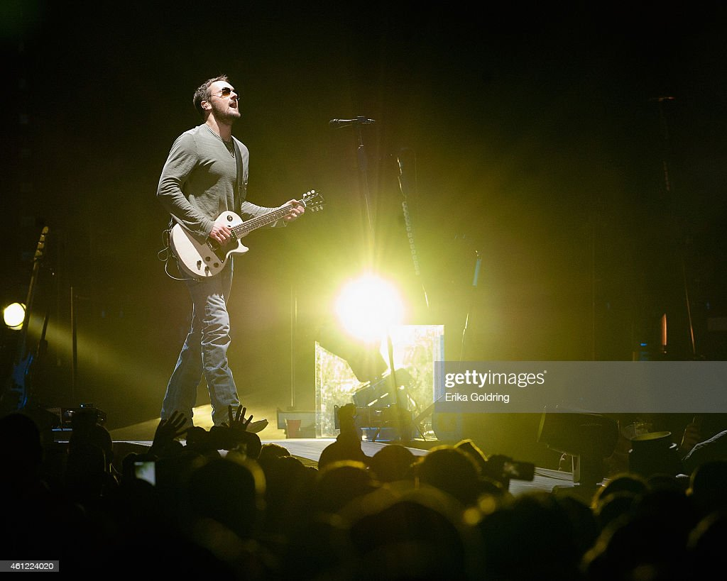 Eric Church performs during The Outsiders World Tour at Smoothie King Center on January 8 2015 in New Orleans Louisiana