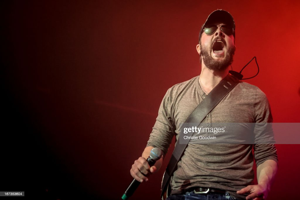 Eric Church performs his first ever UK concert at The Forum on April 24, 2013 in London, England.