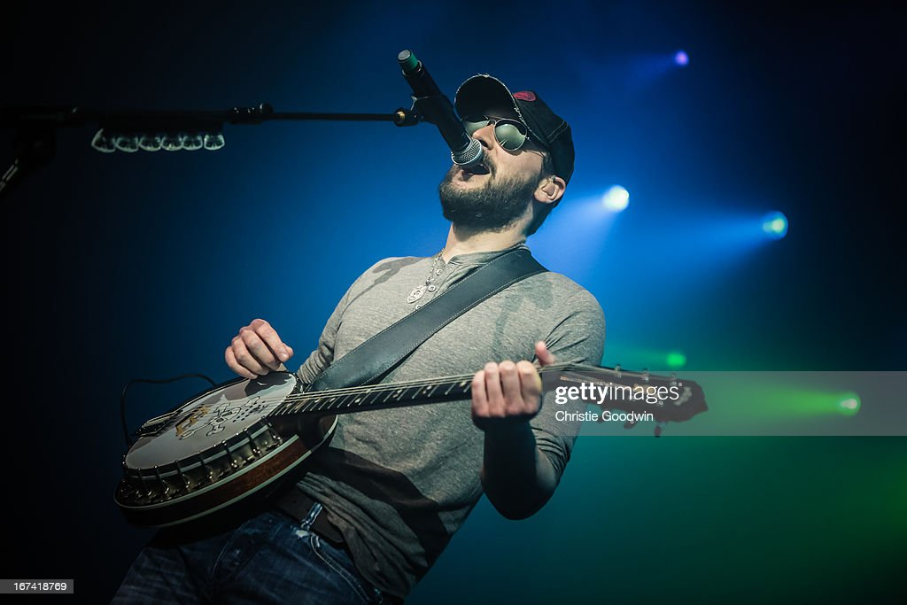 Eric Church performs his first ever UK show at The Forum on April 24, 2013 in London, England.