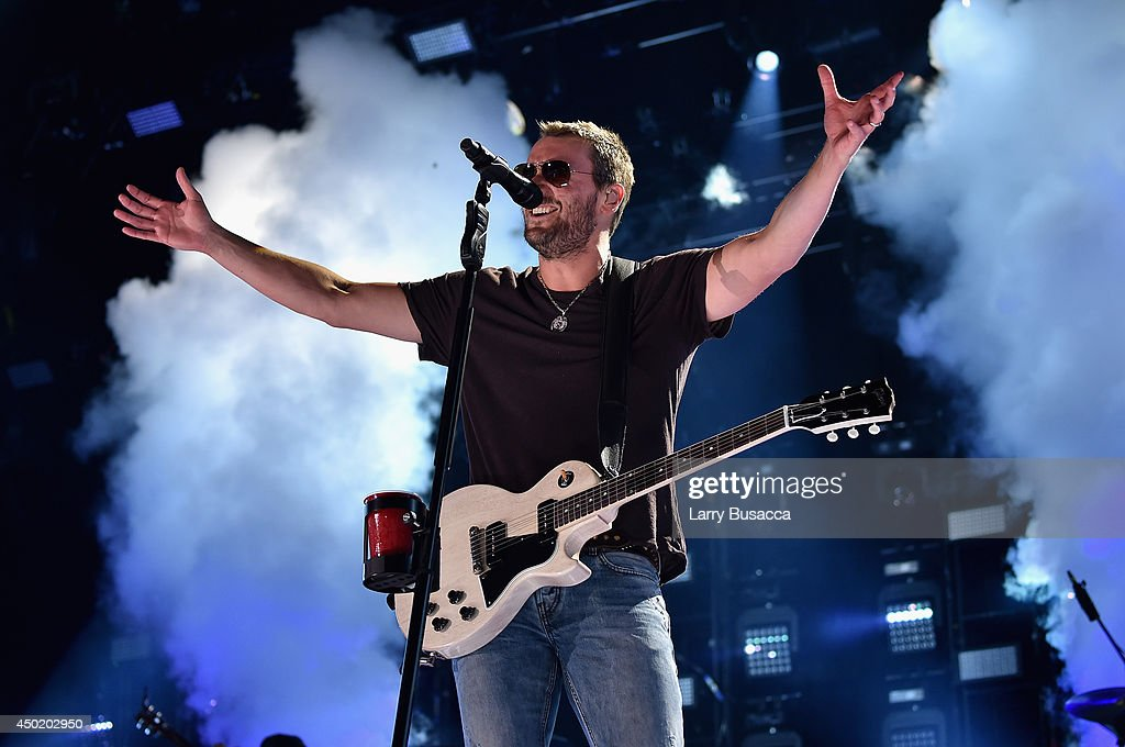 Eric Church performs onstage at the 2014 CMA Festival on June 6 2014 in Nashville Tennessee