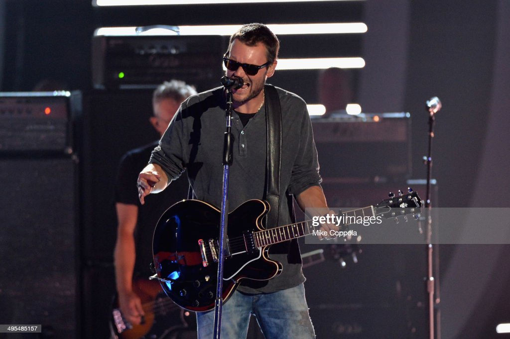 <a gi-track='captionPersonalityLinkClicked' href=/galleries/search?phrase=Eric+Church&family=editorial&specificpeople=619568 ng-click='$event.stopPropagation()'>Eric Church</a> performs onstage at the 2014 CMT Music Awards Rehearsals Day 2 at Bridgestone Arena on June 3, 2014 in Nashville, Tennessee.