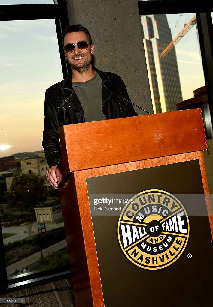 Eric Church speaks during the 'Eric Church Inside The Outsider' exhibition at the Country Music Hall of Fame and Museum on September 17 2015 in...
