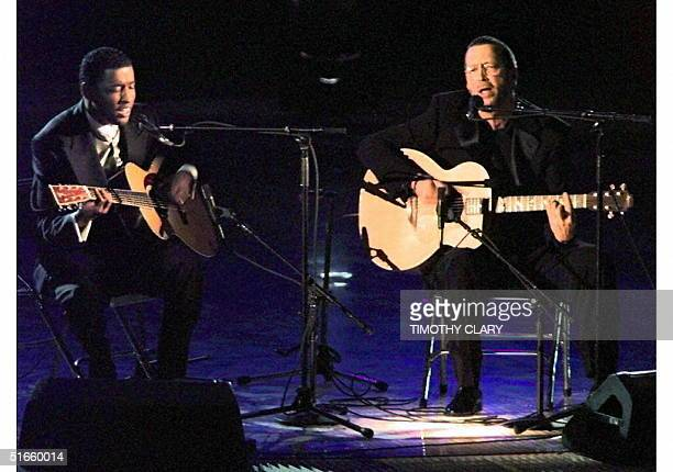 Eric Clapton and Babyface perform 'Change The World' 26 February at the 39th Grammy Awards in New York Clapton won a Grammy for Best Male Pop Vocal...