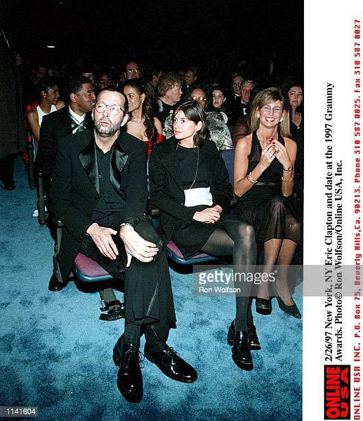 2/26/97 Eric Clapton and date enjoy the Grammys mj/PD