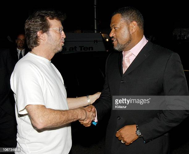 Eric Clapton and Laurence Fishburne at Jazz at Lincoln Center's 'Blowin' the Blues Away' June 2nd spring gala at the Apollo in New York