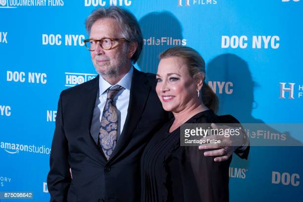 Eric Clapton and Lili Fini Zanuck attend the NYC Closing Night Screening of 'Eric Clapton Life In 12 Bars' at SVA Theatre on November 16 2017 in New...