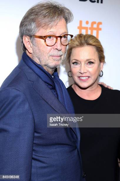Eric Clapton and producer Lili Fini Zanuck attend 'Eric Clapton Life in 12 Bars' during the 2017 Toronto International Film Festival at TIFF Bell...