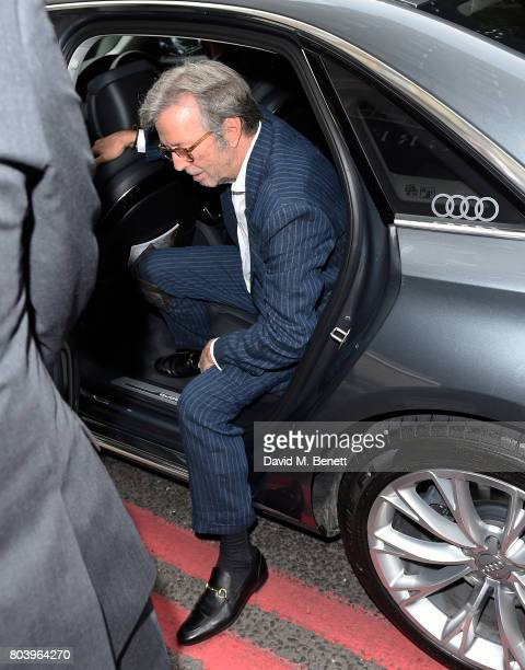 Eric Clapton arrives in an Audi at the Nordoff Robbins at Grosvenor House Hotel on June 30 2017 in London United Kingdom