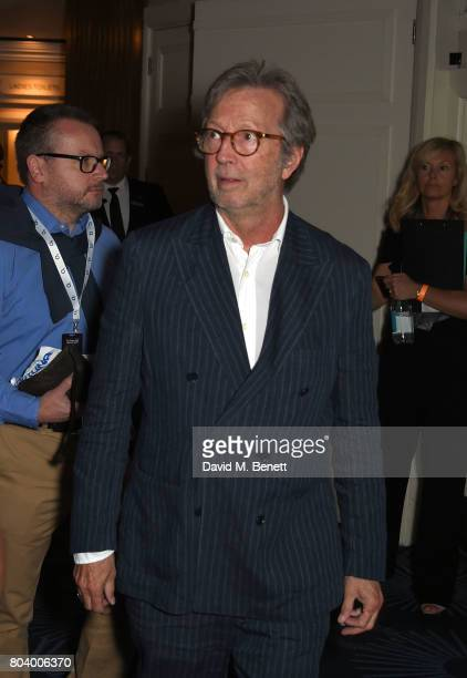 Eric Clapton at the Nordoff Robbins O2 Silver Clef Awards at The Grosvenor House Hotel on June 30 2017 in London England