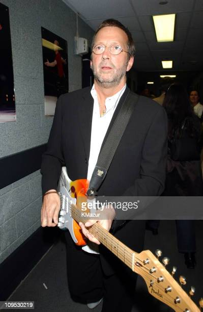 Eric Clapton backstage during The Concert for New York City Backstage at Madison Square Garden in New York City New York United States