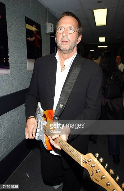 Eric Clapton backstage during The Concert for New York City Backstage at the Madison Square Garden in New York City New York