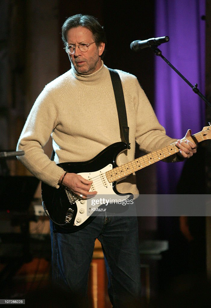 Eric Clapton during 20th Annual Rock and Roll Hall of Fame Induction Ceremony - Rehearsals at Waldorf Astoria in New York City, New York, United States.