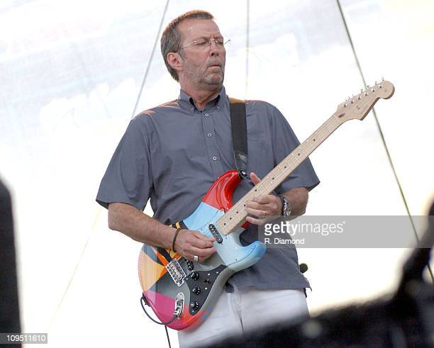 Eric Clapton during Crossroads Guitar Festival Day Two at Fair Park in Dallas Texas United States