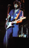 Eric Clapton during Eric Clapton File Photos at The Forum in Los Angeles California United States