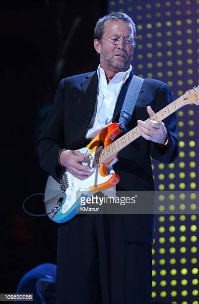 Eric Clapton during The Concert for New York City Show at Madison Square Garden in New York City New York United States